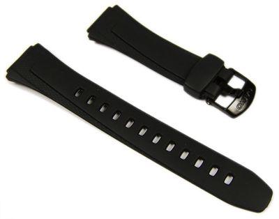 Casio Ersatzband Uhrenarmband Resin schwarz 18mm W-752, W-755, W-753 – Bild 1