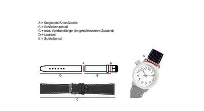 TW STEEL Ersatzband Kautschuk 24mm schwarz Grandeur TW43 TW40 TW125 TW705 – Bild 3