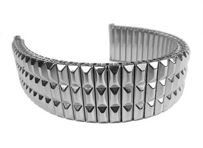 ROWI Fixoflex S Zugband 22mm Uhrenarmband Edelstahl Made in Germany 24812S – Bild 1