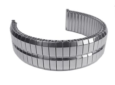 ROWI Fixoflex S Zugband 22mm Uhrenarmband Edelstahl Made in Germany 24818S – Bild 2