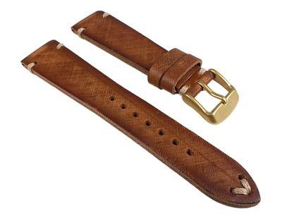 Uhrenarmband Sattelleder Hellbraun Vintage 24922G /16 – Bild 1