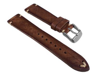 Uhrenarmband Sattelleder Vintage Braun Schnittkante 24923S/16 – Bild 1