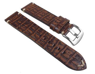 Ersatzband Antik-Kroko-Optik Leder dunkelbraun 24933S /P – Bild 1