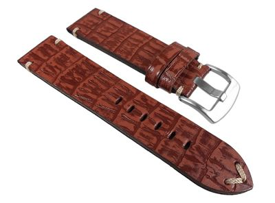 Ersatzband Antik-Kroko-Optik Leder braun 24935S /P – Bild 1