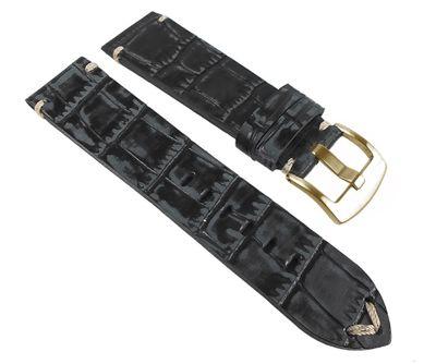 Ersatzband Antik-Kroko-Optik Leder schwarz Graf 24967G/P – Bild 1