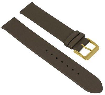 Uhrenarmband Leder | weiches Kalbsleder mit Naht Taupe 24979G – Bild 1
