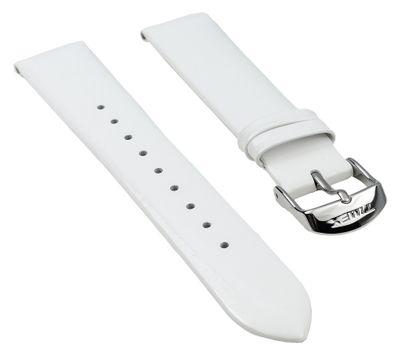 Timex Ersatzband Lack-Leder glänzend weiß 18mm für T2N791 T2N789 T2N790 – Bild 1