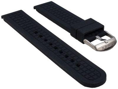 Ersatzband Silikon schwarz 20mm gleichlaufend Timex T2P029 – Bild 1