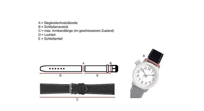 Maurice Lacroix Galant Ersatzband Uhrenarmband Kalbsleder Band Braun 25205G – Bild 2
