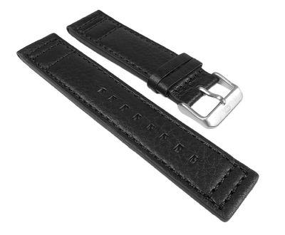 Tommy Hilfiger Ersatzband 22mm | Leder schwarz TH 1790683
