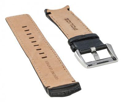 Police Vice Ersatzband Uhrenarmband Leder schwarz für P13592JSTB-04 – Bild 2