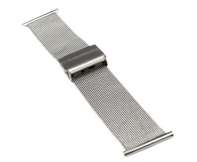 ROWI Ersatzband Uhrenarmband Edelstahl Silberfarben Milanaise matt 22mm Made in Germany 25368S – Bild 1