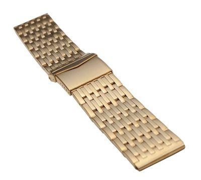 ROWI Ersatzband Uhrenarmband Edelstahl HiTecGold matt 22mm Made in Germany 25376G – Bild 1