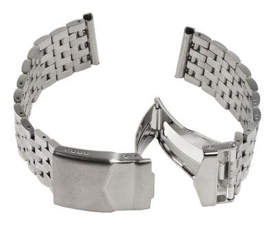 ROWI Ersatzband Uhrenarmband Edelstahl Silberfarben glänzend/matt 24mm Made in Germany 25378S – Bild 4