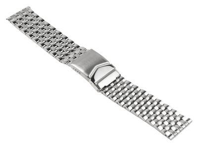 ROWI Ersatzband Uhrenarmband Edelstahl Silberfarben glänzend/matt 24mm Made in Germany 25378S – Bild 1