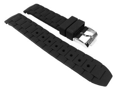 Jacques Lemans Rome Sports Ersatzband Uhrarmband Silikonband schwarz 22mm 1-1622A – Bild 1