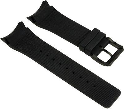 Hugo Boss Ersatzband Uhrenarmband Kautschuk Band schwarz 24mm 1512661 – Bild 2