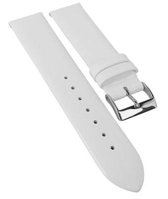 Minott Ersatzband ► Leder Lackleder glänzend in weiß ohne Naht 25546S