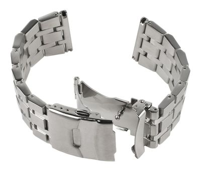 ROWI Ersatzband Uhrenarmband Edelstahl Silberfarben glänzend/matt 26mm Made in Germany 25561S – Bild 4