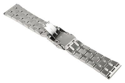 ROWI Ersatzband Uhrenarmband Edelstahl Silberfarben glänzend/matt 26mm Made in Germany 25561S – Bild 2