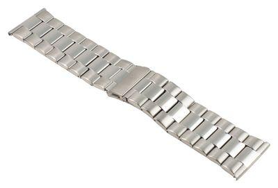 ROWI Ersatzband Uhrenarmband Edelstahl Silberfarben glänzend/matt 30mm Made in Germany 25563S – Bild 1