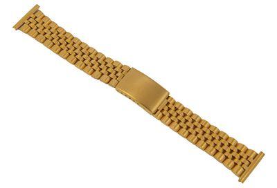ROWI Ersatzband Uhrenarmband Edelstahl HiTecGold glänzend/matt 22mm Made in Germany 25565G – Bild 1
