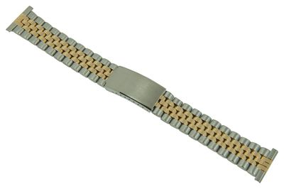 ROWI Ersatzband Uhrenarmband Edelstahl HiTecGold Bicolor glänzend/matt 22mm Made in Germany 25566B – Bild 1