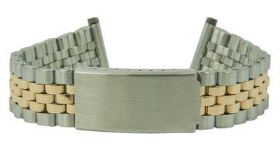 ROWI Ersatzband Uhrenarmband Edelstahl HiTecGold Bicolor glänzend/matt 22mm Made in Germany 25566B – Bild 2