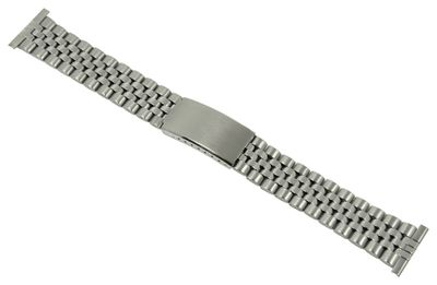 ROWI Ersatzband Uhrenarmband Edelstahl Silberfarben glänzend/matt 22mm Made in Germany 25567S – Bild 1