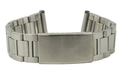 ROWI Uhrenarmband 22mm | Edelstahl Silbern matt Made in Germany 25568S – Bild 1