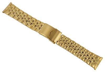 ROWI Ersatzband Uhrenarmband Edelstahl HiTecGold glänzend/matt 22mm Made in Germany 25570G – Bild 1