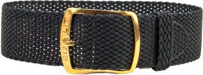 Perlonband Textil schwarz geflochten wasserfest Kristall 25593G – Bild 1