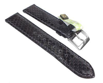 Pina Colada Ersatzband Uhrenarmband Python-Leder Grau 25618S – Bild 1
