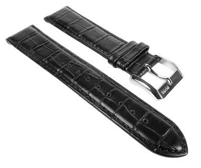 Hugo Boss Ersatzband Uhrenarmband Leder Band schwarz 20mm für 1512092 1512093 1512168 1512169 1512170 – Bild 1