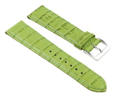 Nevada Uhrenarmband Kalbsleder Kroko-Prägung Hellgrün 25712S – Bild 1