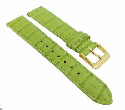 Minott Uhrenarmband Leder Krokoprägung Hellgrün Kurze Länge 25716G – Bild 1
