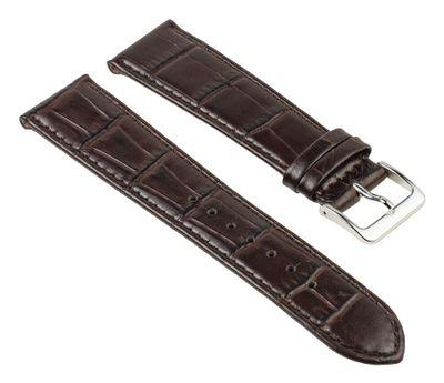 Uhrenarmband Leder Kroko-Prägung Braun Nevada 25738S – Bild 1