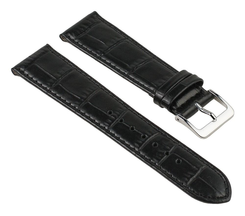 Nevada Ersatzband Manufaktur Uhrenarmband Kalbsleder Kroko-Prägung Weiß 25718S