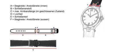 Maurice Lacroix für Calypso  / Scala Ersatzband Uhrarmband Teju-Wulst Bordeaux 14mm 25802S – Bild 3