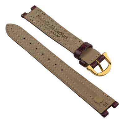 Maurice Lacroix für Calypso  / Scala Ersatzband Uhrarmband Teju-Wulst Bordeaux 14mm 25803G – Bild 2