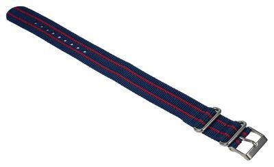 Ersatzband Textil Blau/Rot 20mm Nato Timex T2N747 – Bild 2