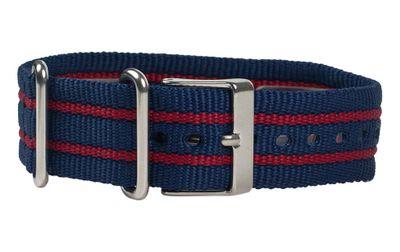 Ersatzband Textil Blau/Rot 20mm Nato Timex T2N747 – Bild 1
