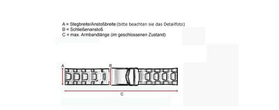 Timex Uhrenarmband Edelstahl 22mm T2N809 - 25927 – Bild 3