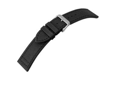 Canvas Ersatzband Materialmix Textil Leder 22mm – Bild 4