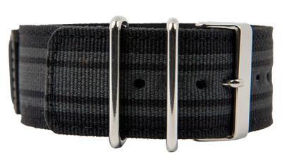 Ersatzband Textil schwarz-grau mit Unterlage Casio G-Shock GA-100MC 10450803 – Bild 1