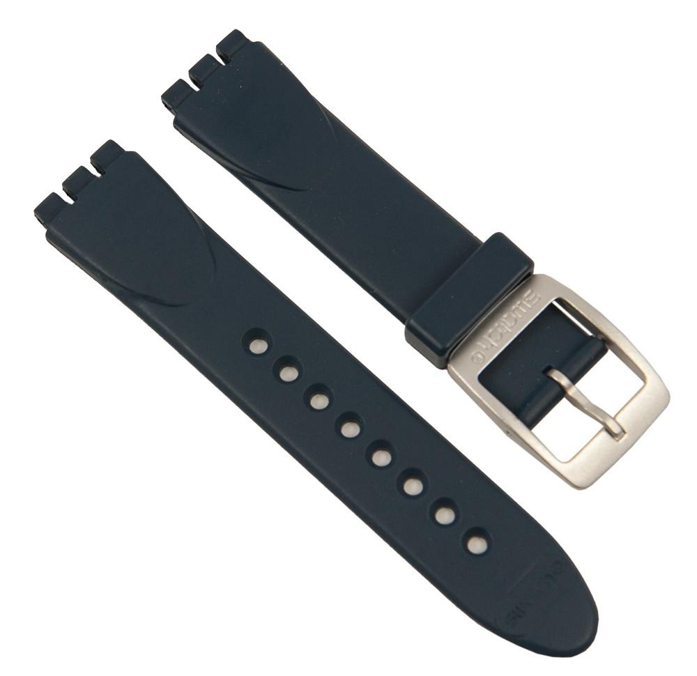 swatch extrados aqua ersatzband uhrenarmband aus gummi in. Black Bedroom Furniture Sets. Home Design Ideas