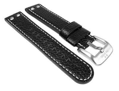 Uhrenarmband Leder schwarz für TW STEEL TW22 26160 – Bild 1