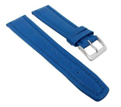 Uhrenarmband Montana Walknapppa Leder Blau 26358S – Bild 1