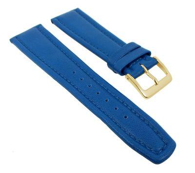 Uhrenarmband Montana Walknappa Leder Blau XL 26360G – Bild 1