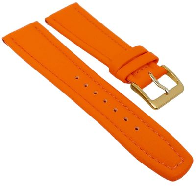 Uhrenarmband Montana Walknappa Leder Orange 26376G – Bild 1